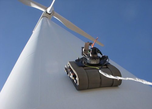 Wind Turbine Climbing Robot (Copyright General Electric)