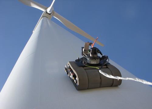 Wind Turbine Climbing Robot (Copyright General Electric)