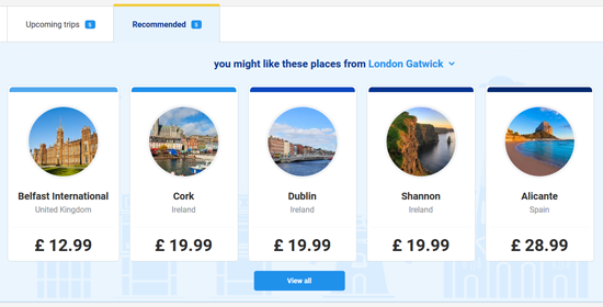 Ryanair Recommendations